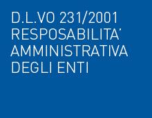 D.L.Vo 231/2001 Resposabilita' amministrativa degli enti
